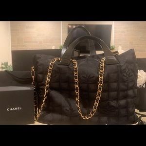 Chanel Canvas CC Tote Purse
